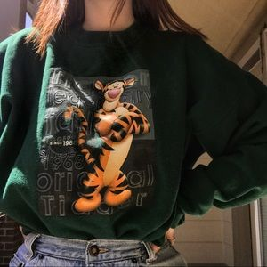 Authentic Disney Tigger Crewneck Sweatshirt